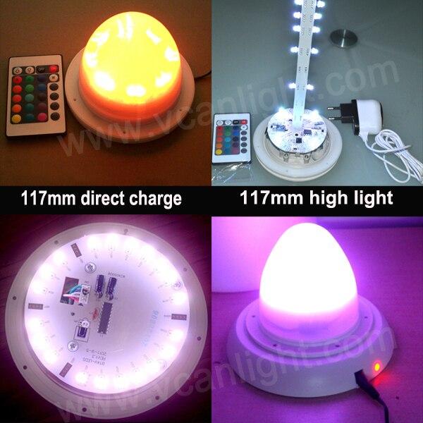 10 pièces DHL livraison gratuite usine 38 LED S RGBW décoration de mariage télécommande multicolore base à LED lumières pour Vases