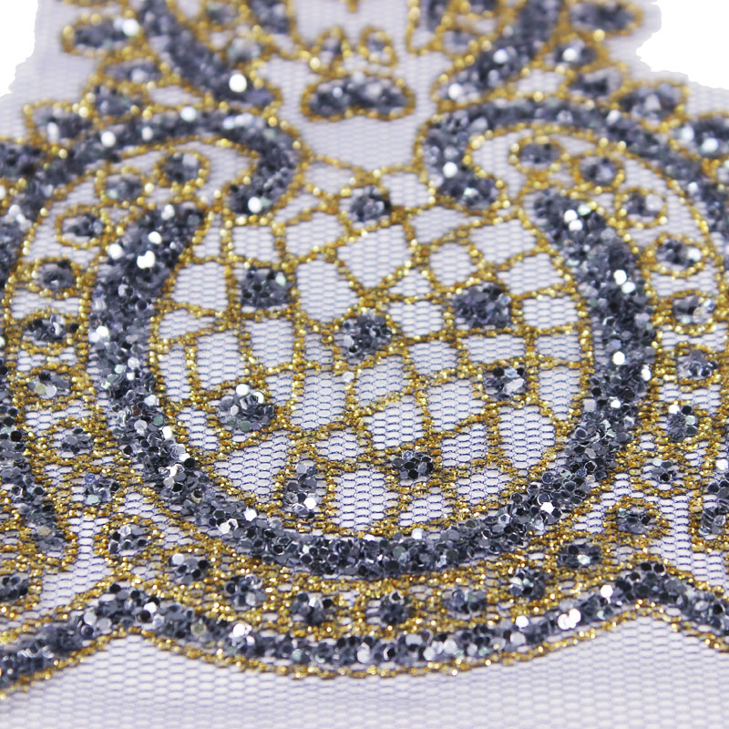 15yards Beaded Sequin Embroidery Lace Trim Lace Motif Applique Tape Lace  Ribbon Trimming Clothes Decorated Sewing Supplies T2277-in Lace from Home    Garden ... 6b288d584537