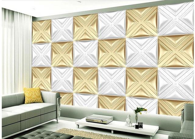 3D wall background with parquet modern living room wallpapers Home ...