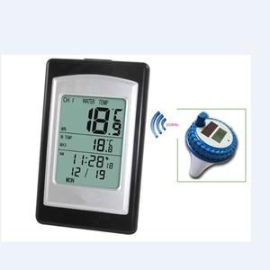 Image 1 - Draadloze Zwembad Thermometer Waterdicht Solar Power Zwemmen Spa Vijver Bad Bad Digitale Lcd Drijvende Water Temperatuur Meter  40C ~ 60C