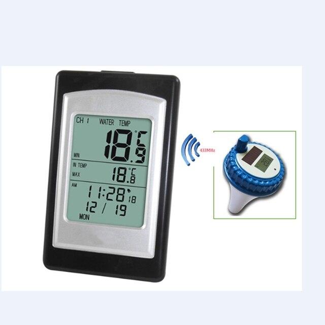 Draadloze Zwembad Thermometer Waterdicht Solar Power Zwemmen Spa Vijver Bad Bad Digitale Lcd Drijvende Water Temperatuur Meter  40C ~ 60C