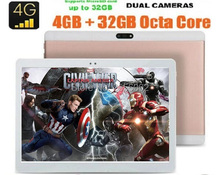 DHL Envío Gratis Tablet pc de 10 pulgadas Octa Core 1920×1200 4G FDD LTE 4 GB RAM 64 GB ROM 8 Núcleos 8.0MP Dual SIM Cards GPS tabletas