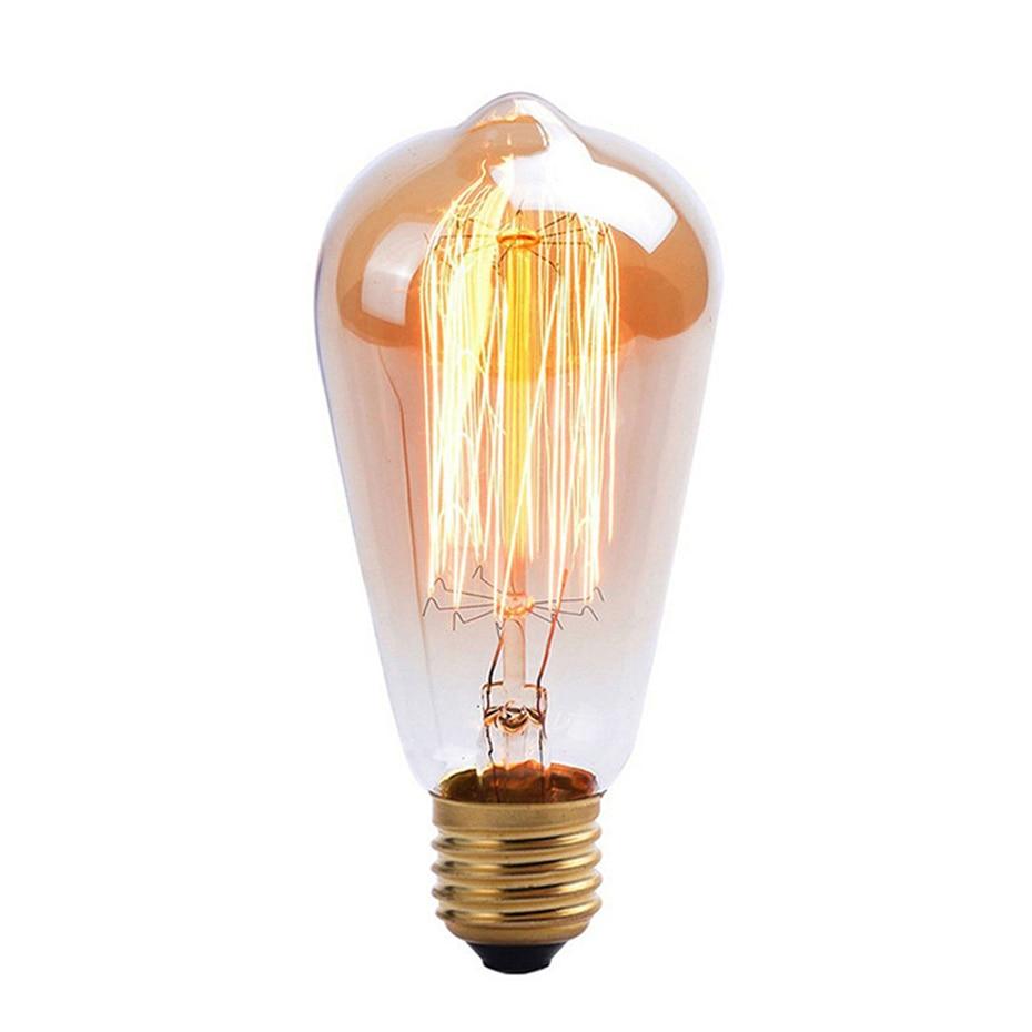 1 Stücke Retro E27 St64 Edison-birne 110 V/220 V Glühlampe Für Home/wohnzimmer Dekoration Vintage Lampe Filament 40 Watt Ampulle