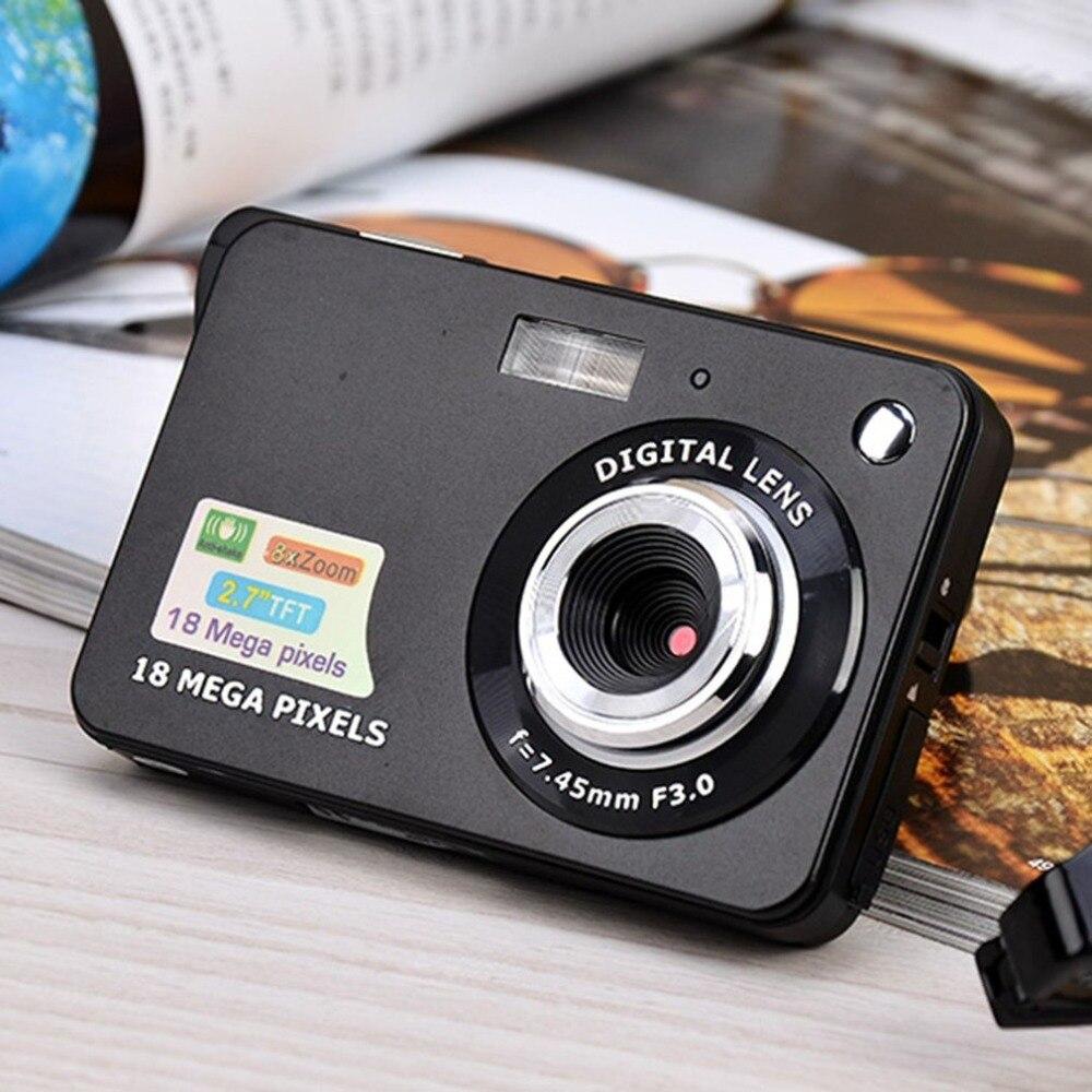 Цифровой Камера HD TFT ЖК-дисплей Дисплей видео Камера 18MP 720 P 8x зум Anti-Shake видеокамеры CMOS 2,7 дюймов micro Камера видео Прямая поставка