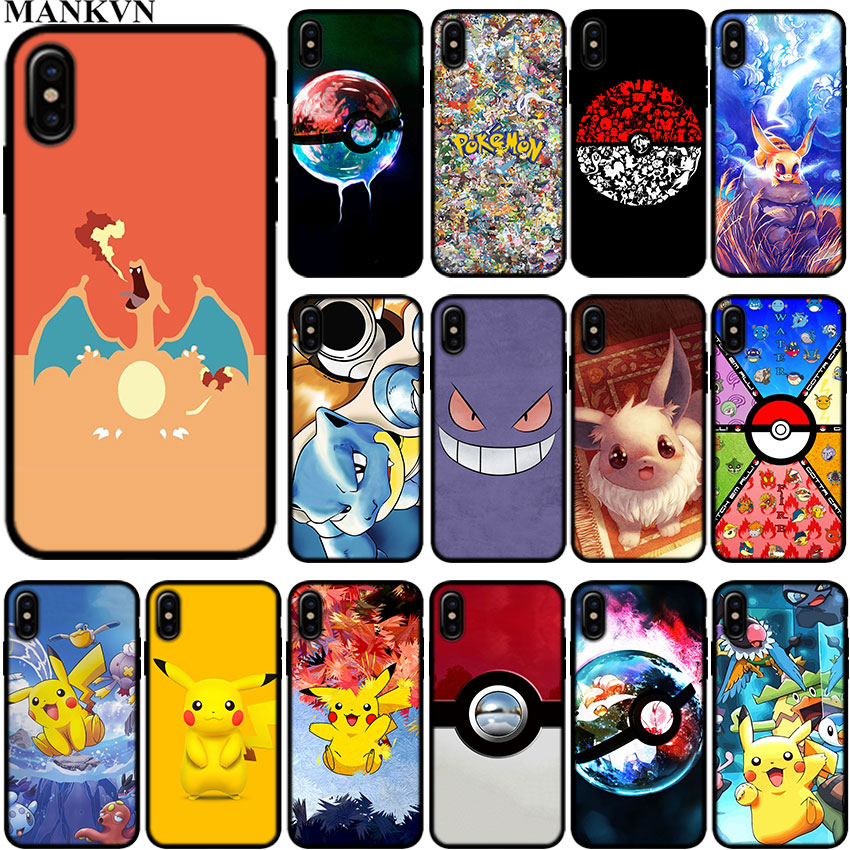 cute-font-b-pokemons-b-font-pokeball-pika-soft-tpu-black-silicone-cases-for-apple-iphone-6-6s-7-8-plus-x-xr-xs-max-5s-se-coque-cover-shell
