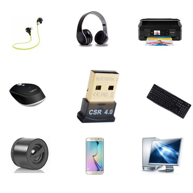 Image 4 - New bluetooth 4.0 usb adapter mini USB Dongle for computer PC wireless Transmitter receiver Adapter with  free charging cable-in Computer Cables & Connectors from Computer & Office