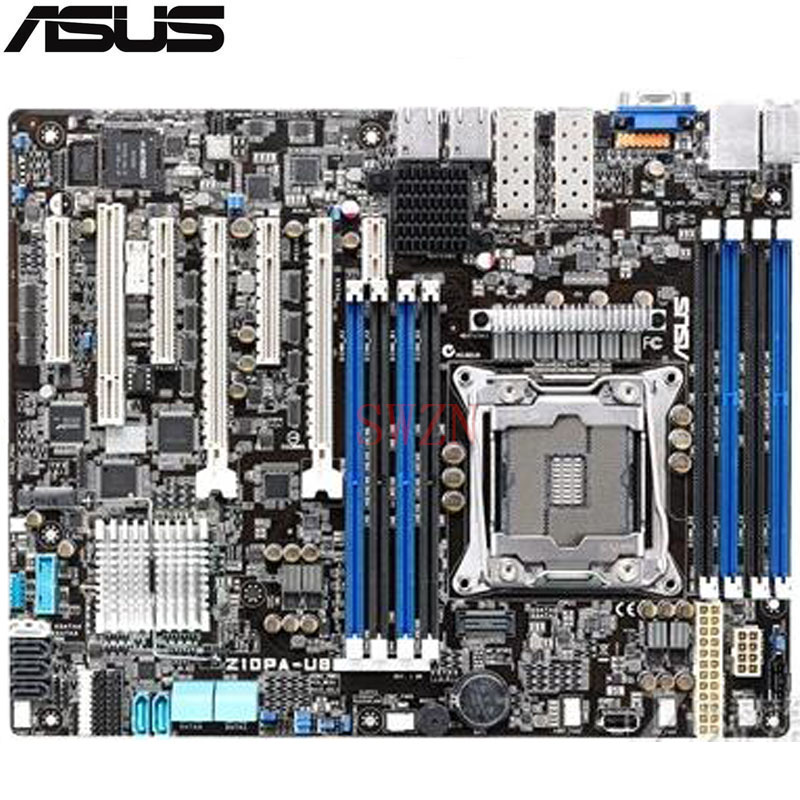 original Used Server motherboard For ASUS Z10PA-U8/10G-2S Z10PA-U8 10G-2S Socket 2011-3 Maximum 8*DDR4 128GB 10xSATAIII ATX