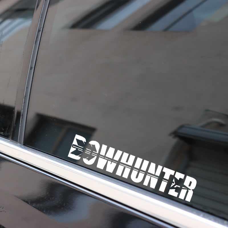 YJZT 14.6 سنتيمتر * 2.8 سنتيمتر القوس هنتر السهم ملصق حائط من الفينيل مضحك سيارة ملصقا أسود الفضة C10-02289