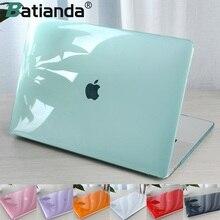 Coque rigide transparente en cristal de protection pour Macbook Air Retina Pro, avec barre tactile A2251 A2289A2159 A1706, version 13 2020 A1932