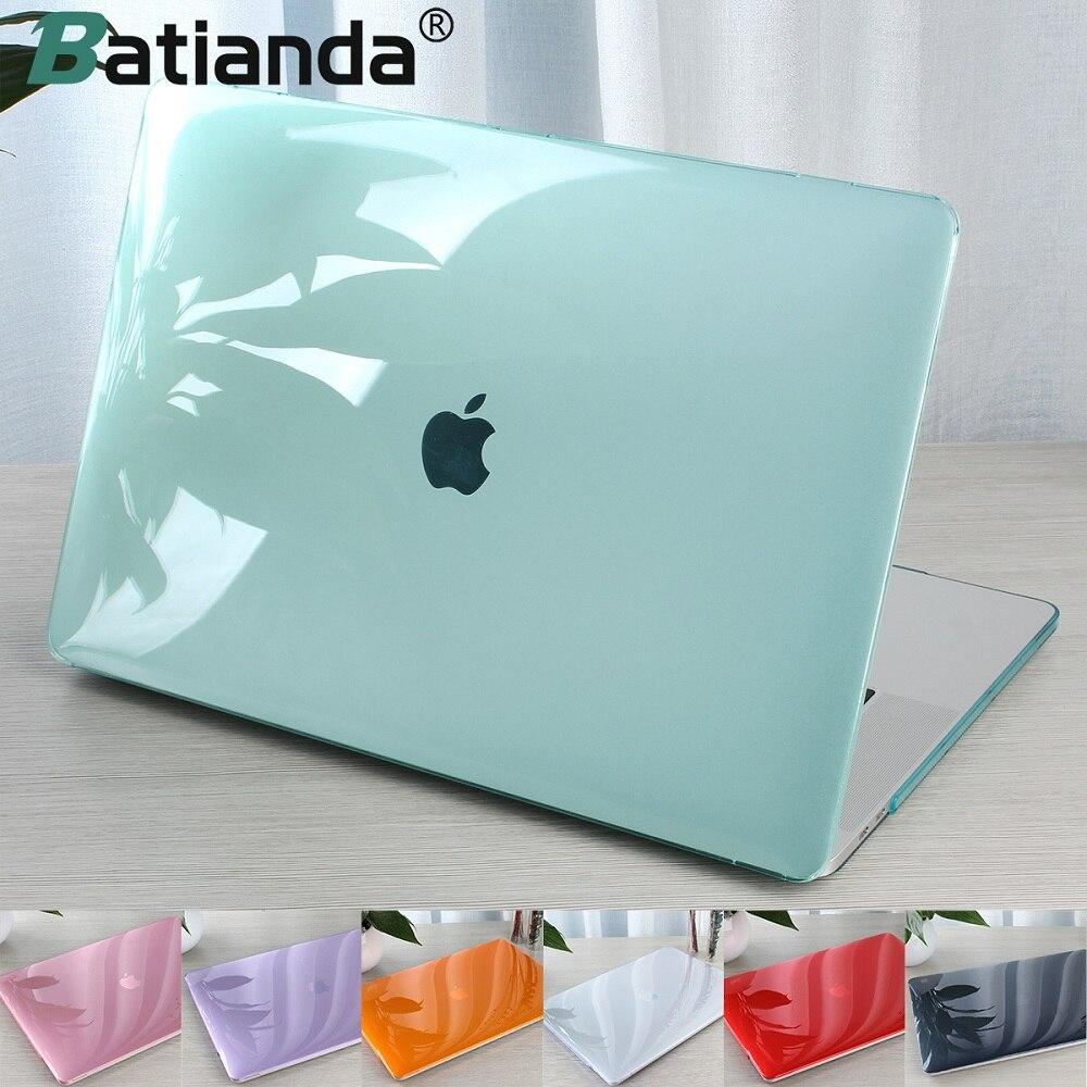 Cristal Caso Difícil Transparente Para Proteger o Macbook Air Retina Pro 13 15 Barra de Toque 2019 A2159 A1706 A1707 A1990 AR 13 2019 A1932