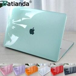 Kristal Transparan Hard Case Melindungi untuk Macbook Udara Retina Pro 13 15 16 Touch Bar A2141 A2159 A1706A1990 Air 13 2020 A1932