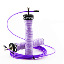 MUEUSS Jump Rope High Speed Professional Adjustable Skipping With Portable Bag Skip Anti-Slip Handle For Double Under