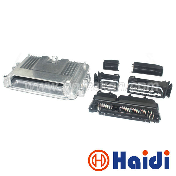 Livraison gratuite 1 set 80 p ECU Boîtier En Aluminium Boîte avec 80pin Cas Moteur De Voiture GPL CNG Conversion Mâle Femelle Auto Connecteur
