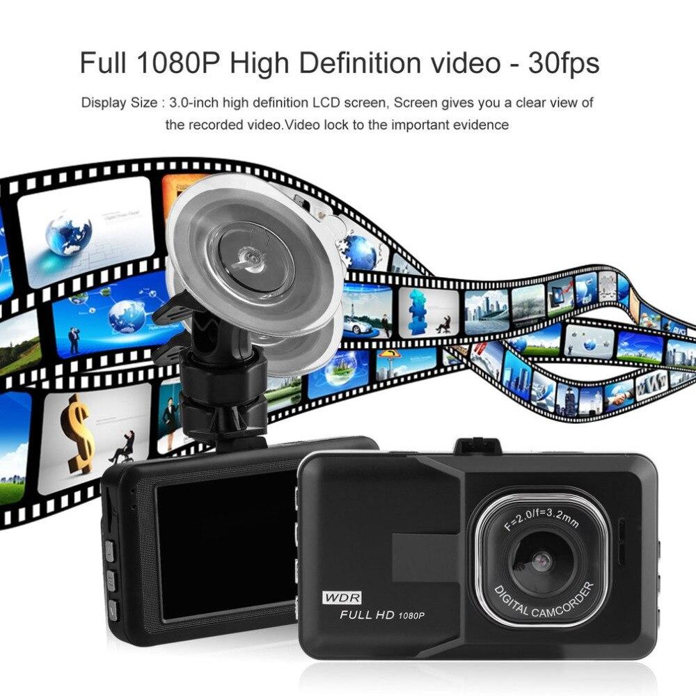 Nuevo estilo de coche de 3,0 pulgadas LCD Dash cámara de vídeo del coche DVR grabadora de 1080 p HD G-Sensor 32 GB Detector de movimiento de la grabación del ciclo del Auto