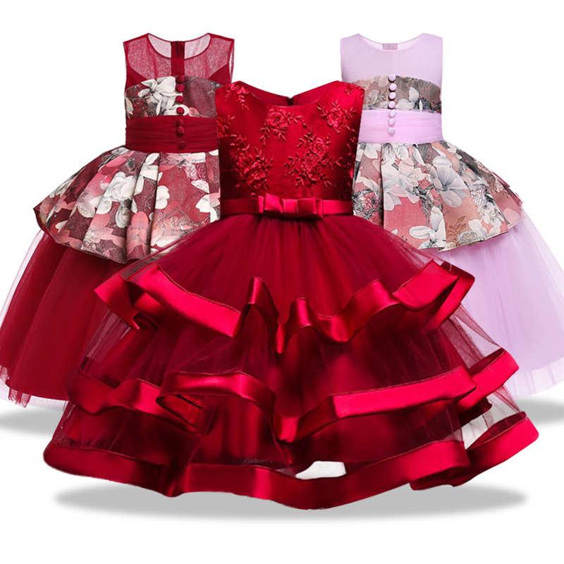 New Kids Flower Princess Party Dresses for Girls New Year Bowknot Ball Gown Tutu Kids Clothing Vestidos 3-10Yrs Free ShippingNew Kids Flower Princess Party Dresses for Girls New Year Bowknot Ball Gown Tutu Kids Clothing Vestidos 3-10Yrs Free Shipping