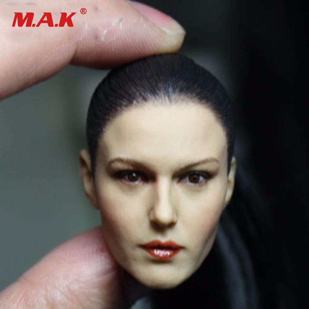 KM13-11 1/6 Scale Female Head Sculpt Woman Head Carving Black Ponytail Cool Girl Head for Action Figure Body 1 6 popular km 38 female head sculpt model with black hair for 12 female action figure body doll toys