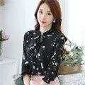 Women Blouses 2017 Autumn Blusas Chiffon Print Blouse Plus Size Shirt Women Tops Shirts