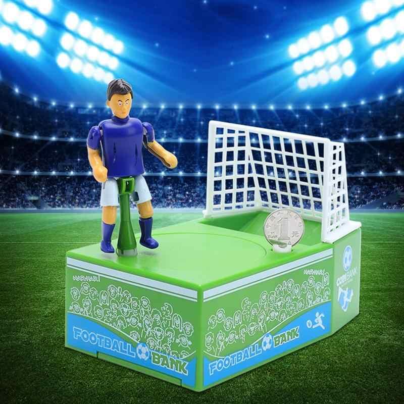 Футбол съемки монет банка Футбол футбольный мяч плеер Банк сбережений денег экономия денег поле для детей футбольные фанаты клюшки для гольфа и вечерние