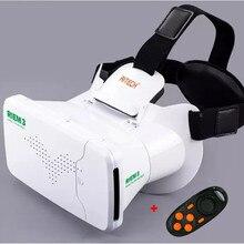 RITECH III RIEM3 VR Realidad Virtual Gafas 3D Cabeza de Montaje cartón 3 D Película + Remoto Inalámbrico Bluetooth Del Teléfono Móvil Control