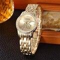 Top de luxo Da Marca Relógios De Ouro Das Mulheres de Aço Inoxidável Relógios De Pulso Das Mulheres Pulseira de Relógio de Senhoras do Relógio de Pulso feminino relogio feminino