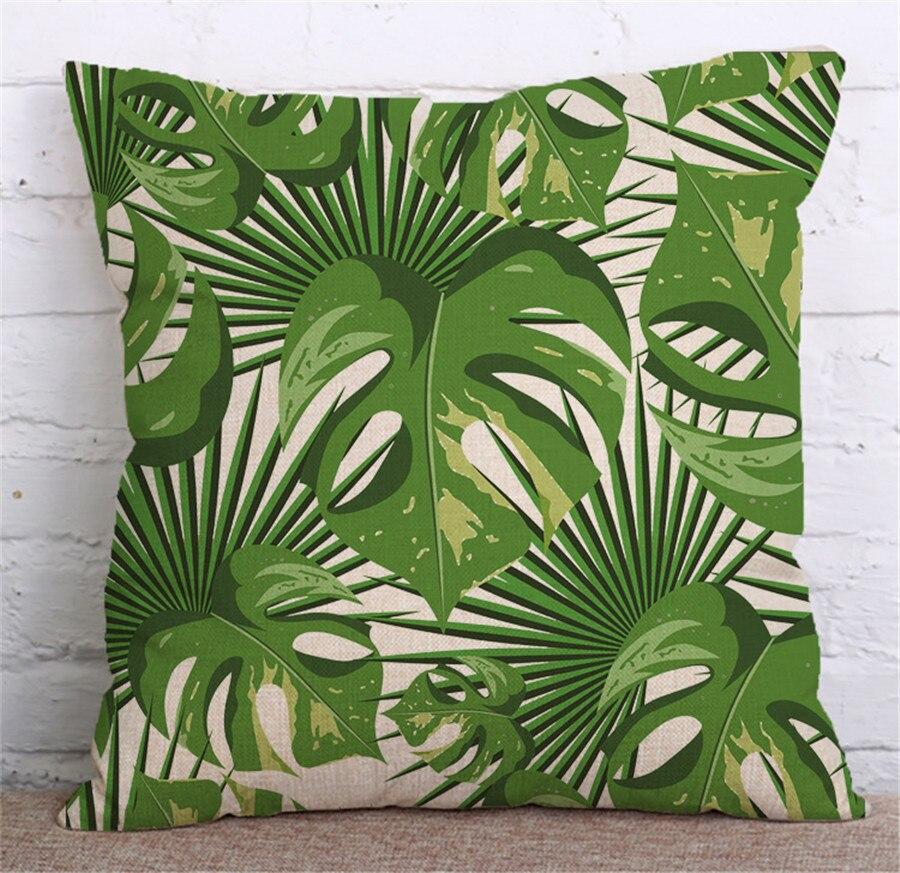 ZXZXOON Tropik Bitki Yaşıl yarpaqlardan Monstera Yastığı - Ev tekstil - Fotoqrafiya 3