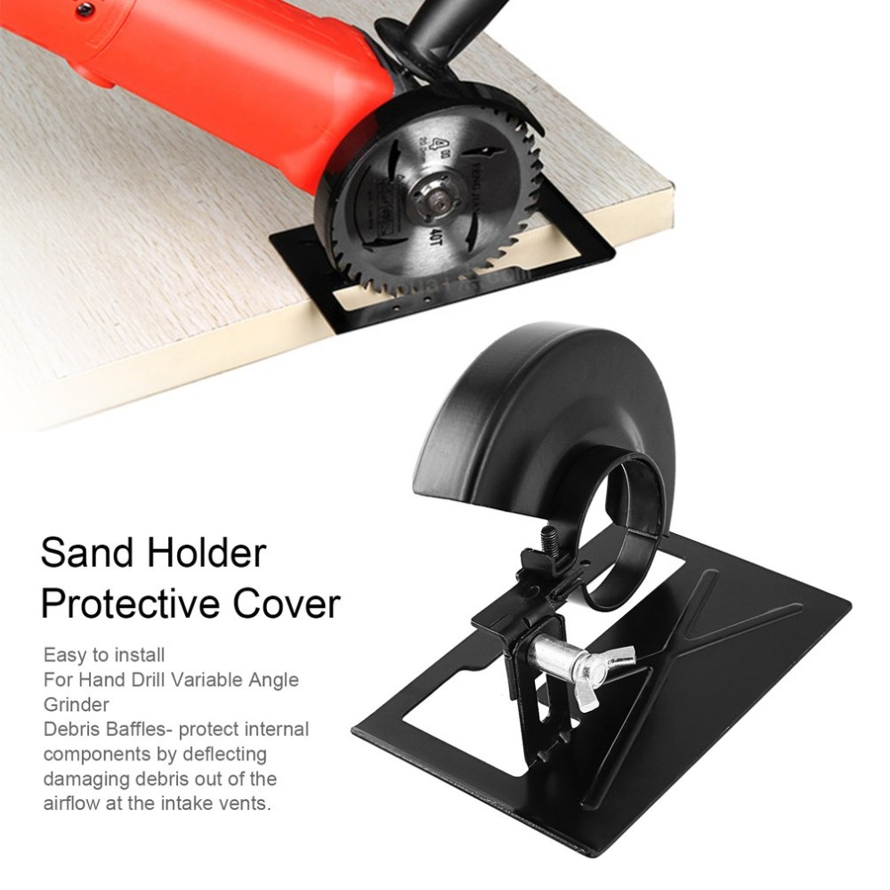 2018 New Angle Grinder Cutting Machine Lengthened Cutting Support Sand Holder + Protective Cover Woodworking Power Tools