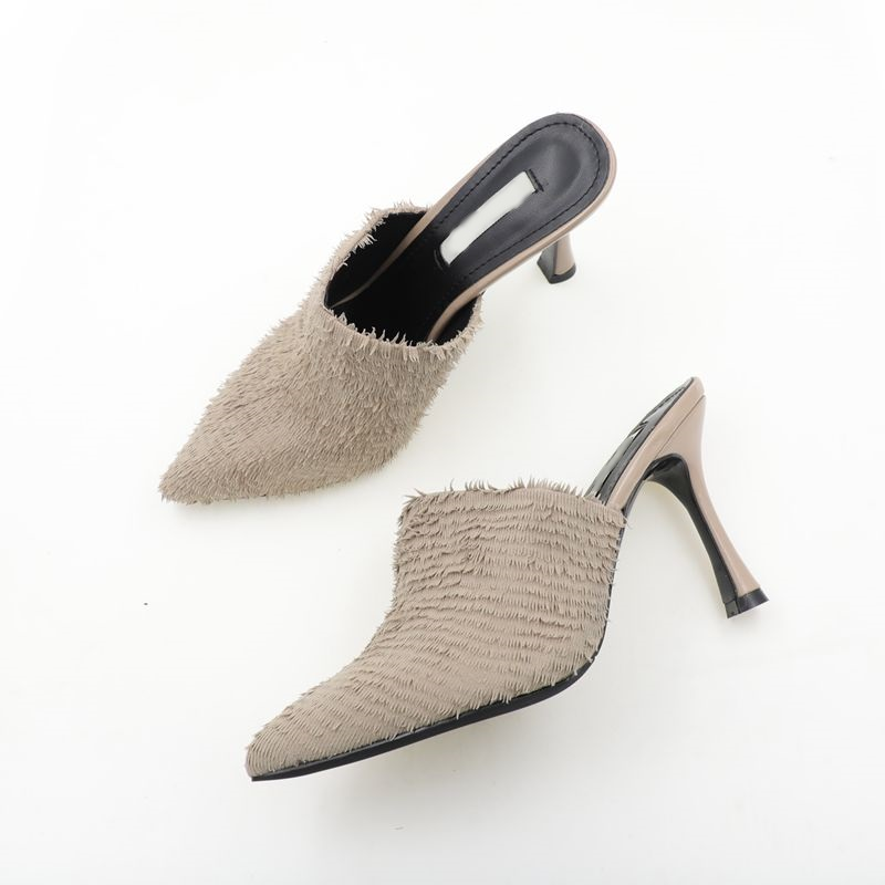 autumn women high heel pumps women10cm heel closed toe slippers fashion lady pointed toe tassels pumps slippers size 34-39autumn women high heel pumps women10cm heel closed toe slippers fashion lady pointed toe tassels pumps slippers size 34-39