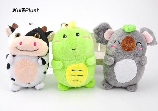 Image of: Ty Beanie New Kawaii Animals Cow Dragon Koala Plush Stuffed Toy Doll 12cm Approx Key Chain Gift Plush Toys Aliexpress New Kawaii Animals Cow Dragon Koala Plush Stuffed Toy Doll