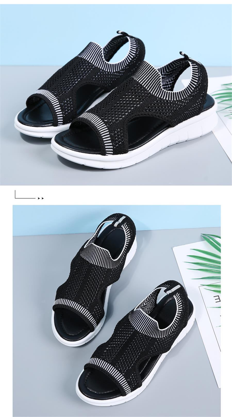 HTB1H9JjRXzqK1RjSZFvq6AB7VXaC STQ Women sandals 2019 female shoes women summer wedge comfort sandals ladies flat slingback flat sandals women sandalias 7739
