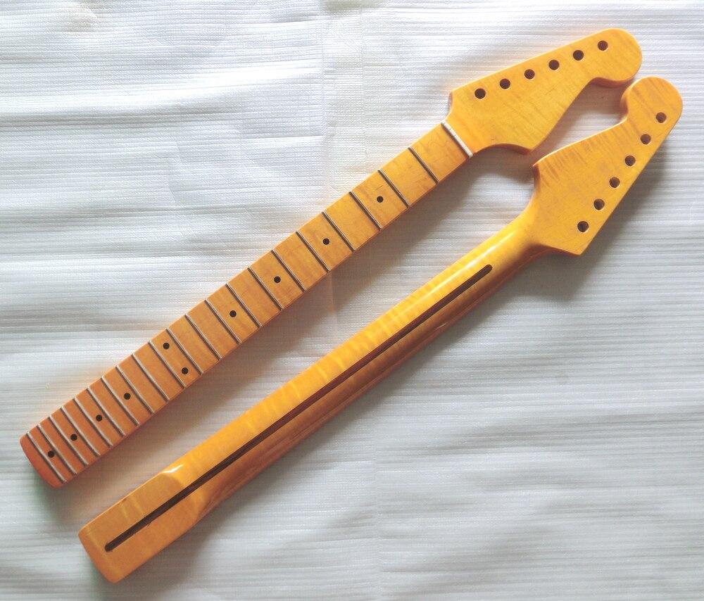 21 Trastes Tiger llama Canadiense arce Cuello de la Guitarra Eléctrica Al Por Ma