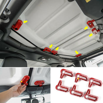 NEW Red ABS Hardtop Release Open Switch Trim Cover for 2018 for Jeep Wrangler JL NEW 6PC