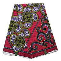 2016 Mode mooie ankara stof afrikaanse echte java wax prints stof groen ankara java wax stof voor naaien