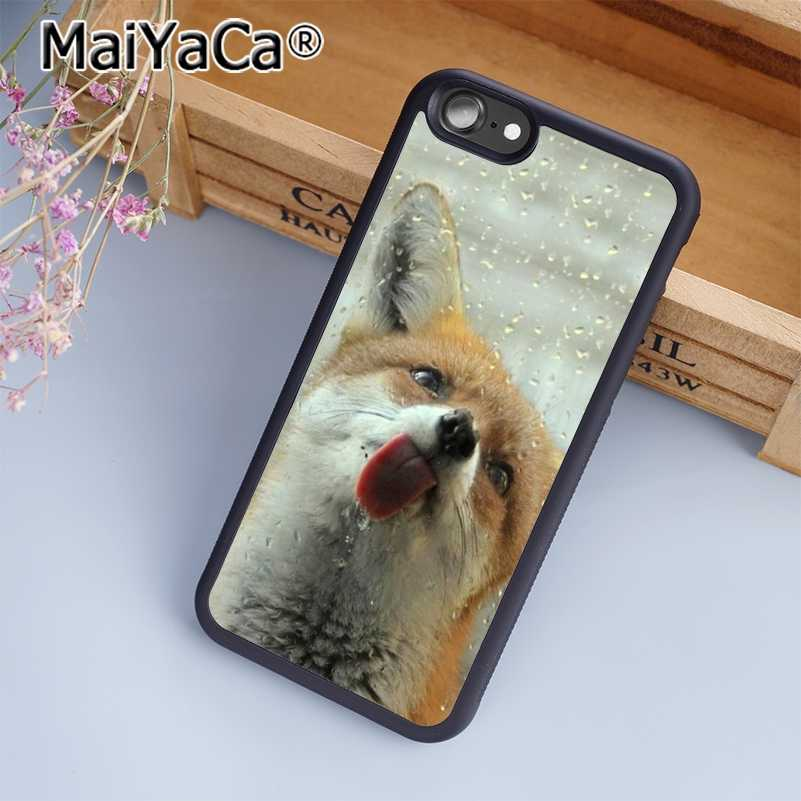 MaiYaCa лиса красный одежда для сна с милыми и забавными природа чехол для телефона чехол для iPhone 5 5S 6 6s 7 8 Plus XR XS 11 pro max для samsung S6 S7 S8 edge Plus