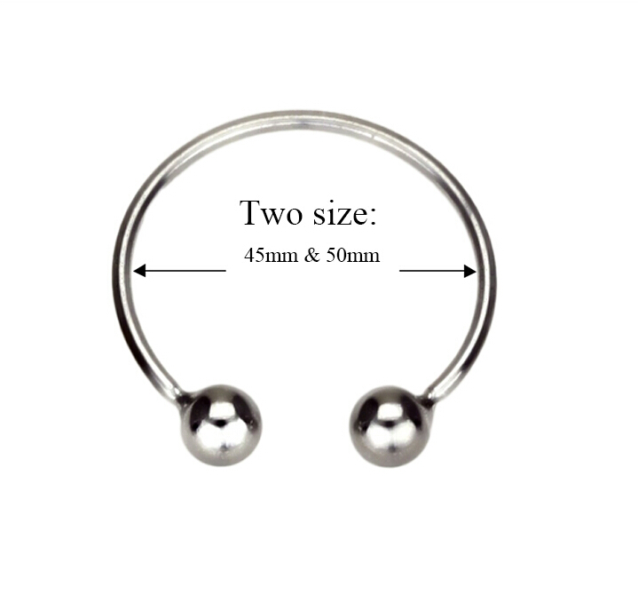 Black emperor adult sexy Store 45/50mm Stainless steel glans ring,cock ring delay fun male sperm locking ring,male chastity device,penis ring,penis sleeve