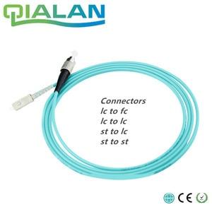 Image 1 - 5 m LC SC FC ST UPC Cable óptico Simplex OM3 multimodo de PVC de fibra óptica de 2,0mm Cable de parche de fibra patchcord óptica puente