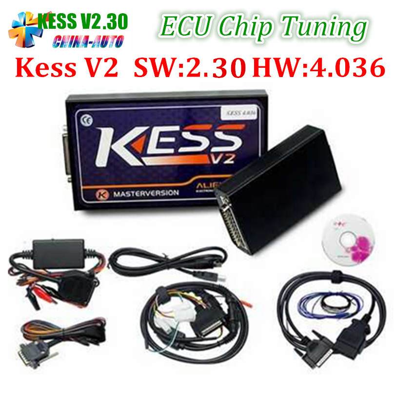 2017 Newest V2.30 KESS V2 V2.32 OBD2 Manager Tuning Kit No Token Limited Master Version V4.036 KESS 2 Best Car ECU Programmer 2016 newest ktag v2 11 k tag ecu programming tool master version v2 11ktag k tag ecu chip tunning dhl free shipping