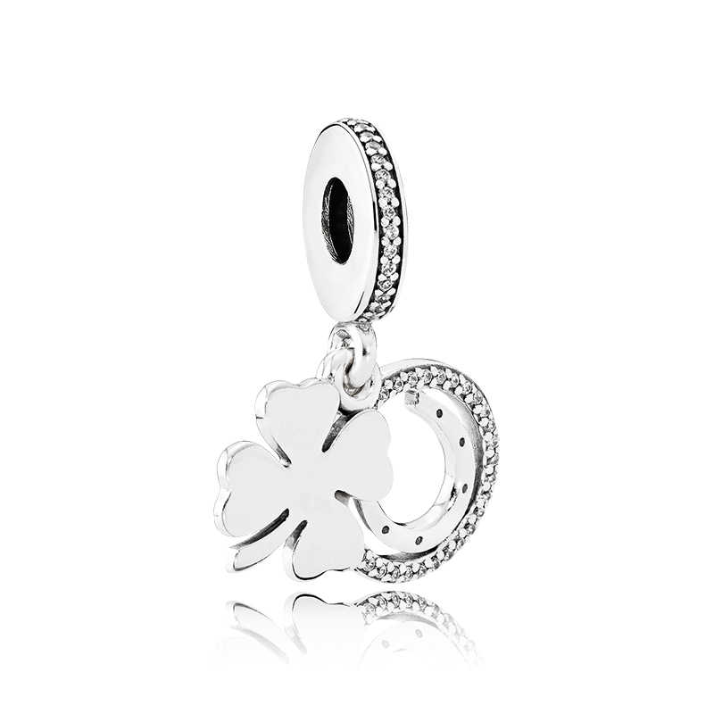 מכירה לוהטת אהבת לב כוכב עץ כתר טירה עכבר אמייל קסם חרוזים Fit פנדורה צמידי לנשים DIY ביצוע תכשיטי Bijoux