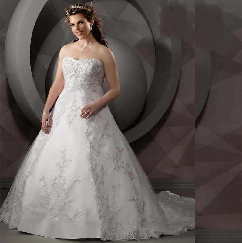 Princess Plus Size Vintage Wedding Dress 2015 Hot Sale