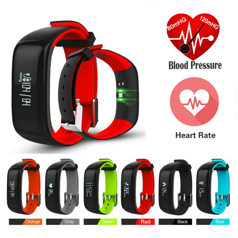 Smart Uhr Blutdruck Monitor Fitness Armband Aktivität Tracker Smart Band P1 Smartband Schrittzähler Armband Smart Armbänder