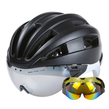 Ultralight Road Mountain MTB Cycling Helmet With Glasses Goggles Bicycle Helmet Casco Ciclismo Bike Helmet 55-61 CM