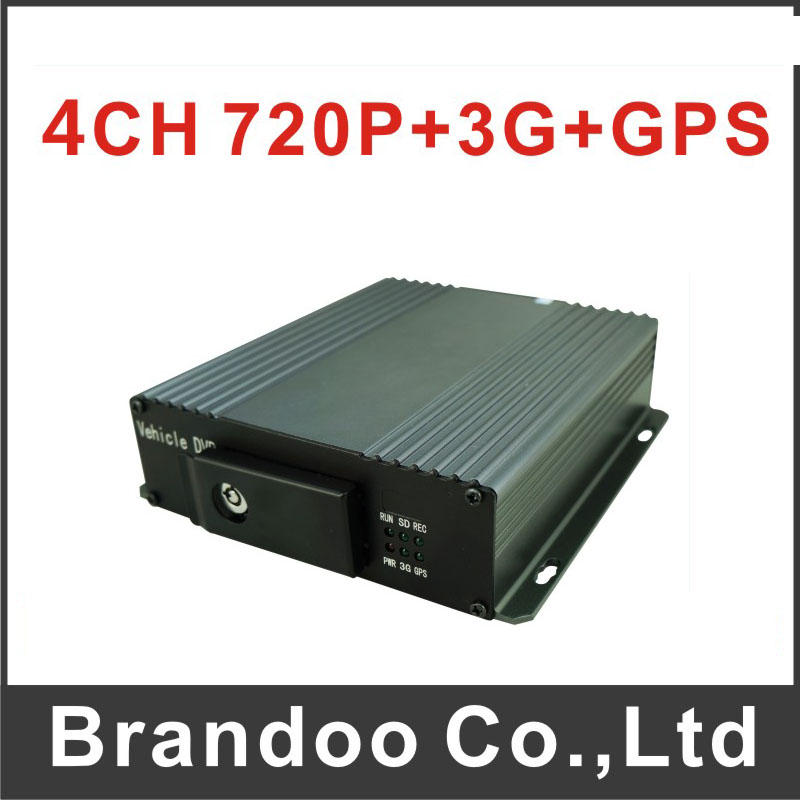 Free shipping 4CH 720P 3G taxi DVR with GPS, low cost 3G mobile dvr BD-327GW