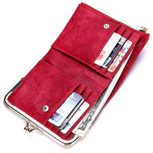 Women Wallets Small Fashion Short Paragraph PU Leather Purse Retro Multi-Function Card Package Simple Wallet Cartera Mujer