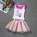 2Pcs Set Baby Girl Christmas Letter Tutu Dress Infant 1st Birthday Party Outfit T-shirt+Bubble Skirt  Newborns Tulle Vestidos