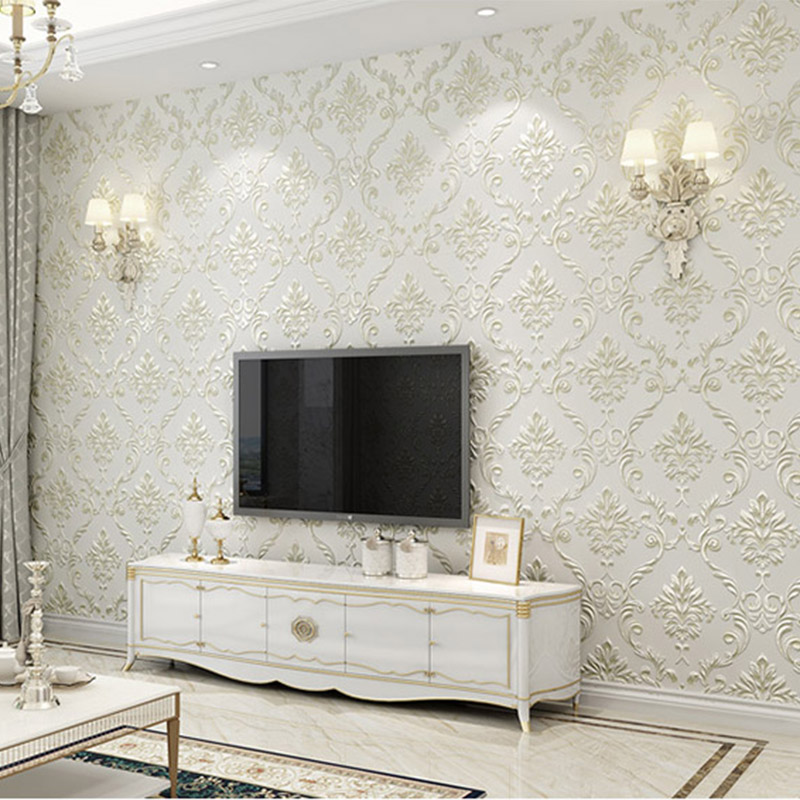 Self-Adhesive Wallpaper European Style Living Room Bedroom Luxury Home Decor Wall Papers 3 D Non-Woven Waterproof Drop ShippingSelf-Adhesive Wallpaper European Style Living Room Bedroom Luxury Home Decor Wall Papers 3 D Non-Woven Waterproof Drop Shipping