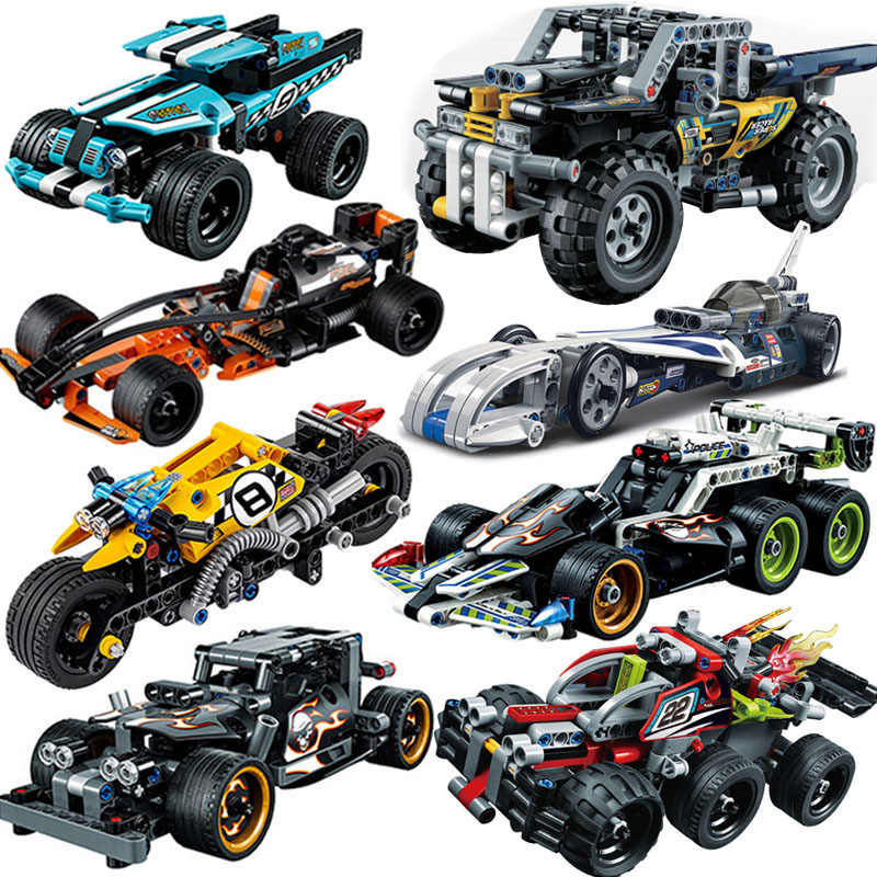 Building Blocks Toys Cars Technic Tractor Excavator Bricks Children Car Model Gifts Combination Plug Toy Compatible With toys