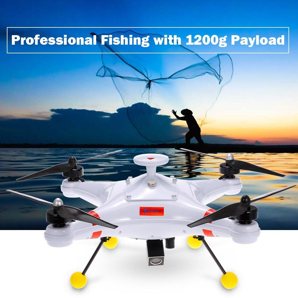 Nuovo Impermeabile di Pesca Professionale Drone 700TVL Elicottero Fotocamera Poseidon-480 Brushless 5.8g FPV GPS Quadcopter RTF