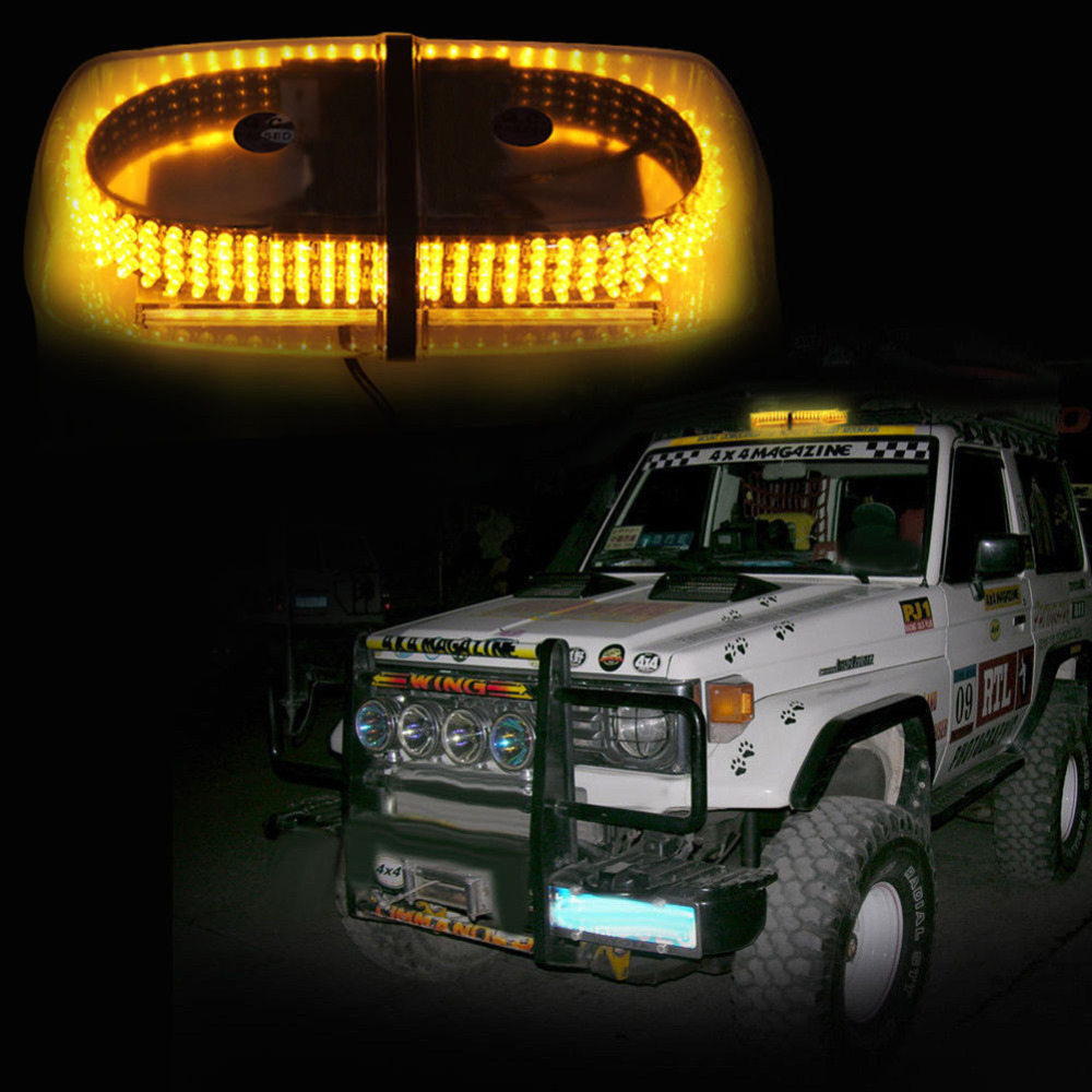 240 LED Roof Top Emergency Warning /Mini Bar Strobe Light -Magnetic Base Flare Flashing Vehicle Light bar