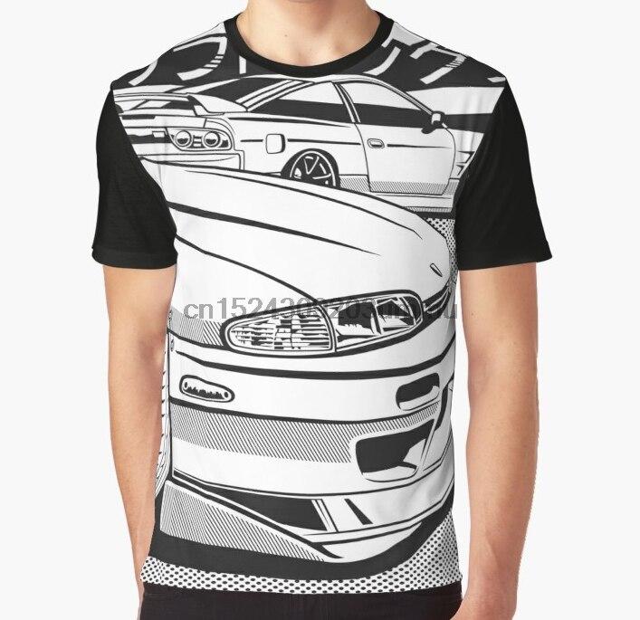 All Over Print Women T Shirt Men Funny Tshirt Nissan Silvia S14 S13 Graphic Women T-Shirt