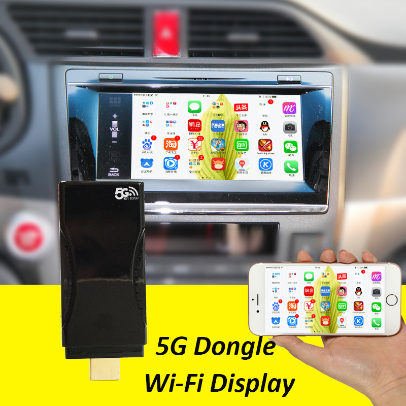 Carlinke PTV Display Airplay WiFi Miracast Dongle for Mirroring Screen to any Device HDM ...