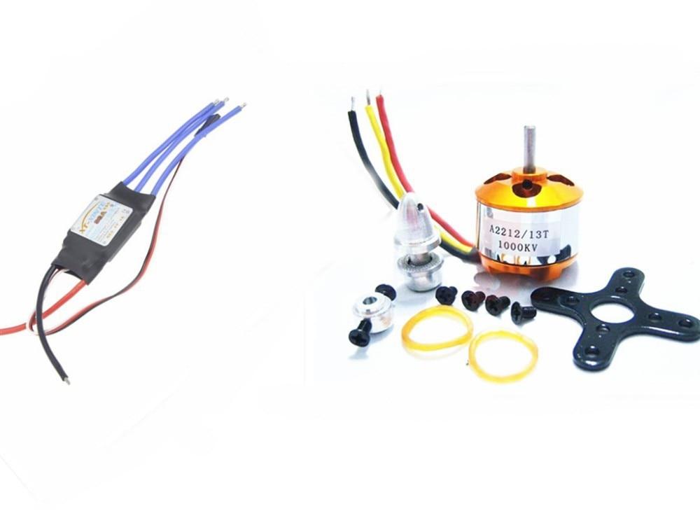 F00177-A 6pcs A2212 1000KV Brushless Motor & 6pcs 30A ESC For RC Quadcopter 30a esc welding plug brushless electric speed control 4v 16v voltage